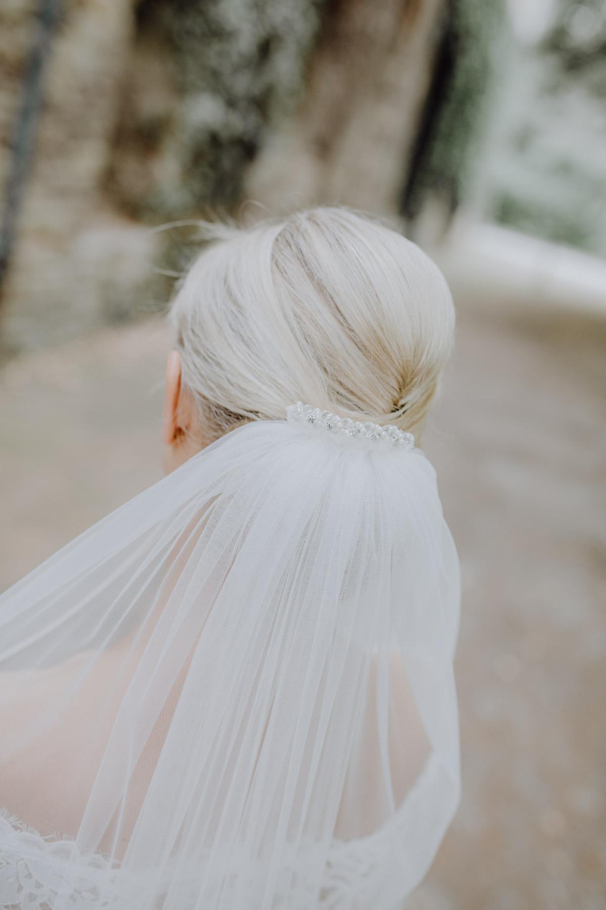Detailausnahme Schleier einer Braut