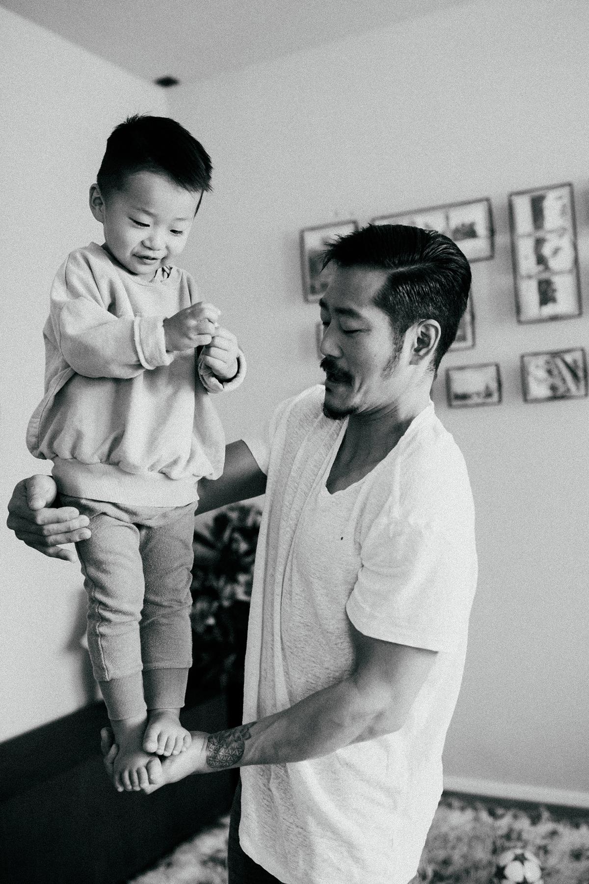 Fotografie von Vater und Sohn aus einem professionellen Shooting