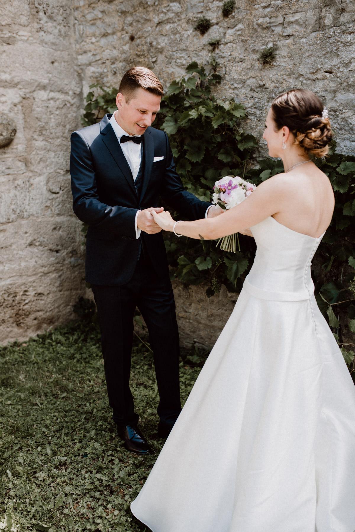 Momentaufnahme getting ready Hochzeitstag