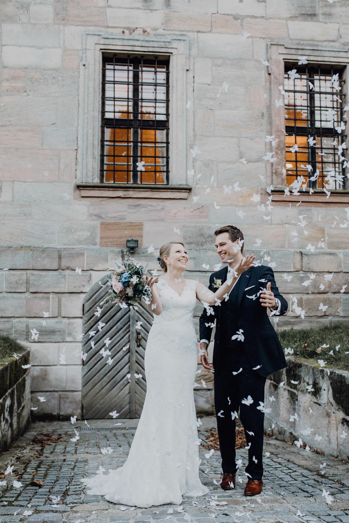 Fotografie eines Brautpaares