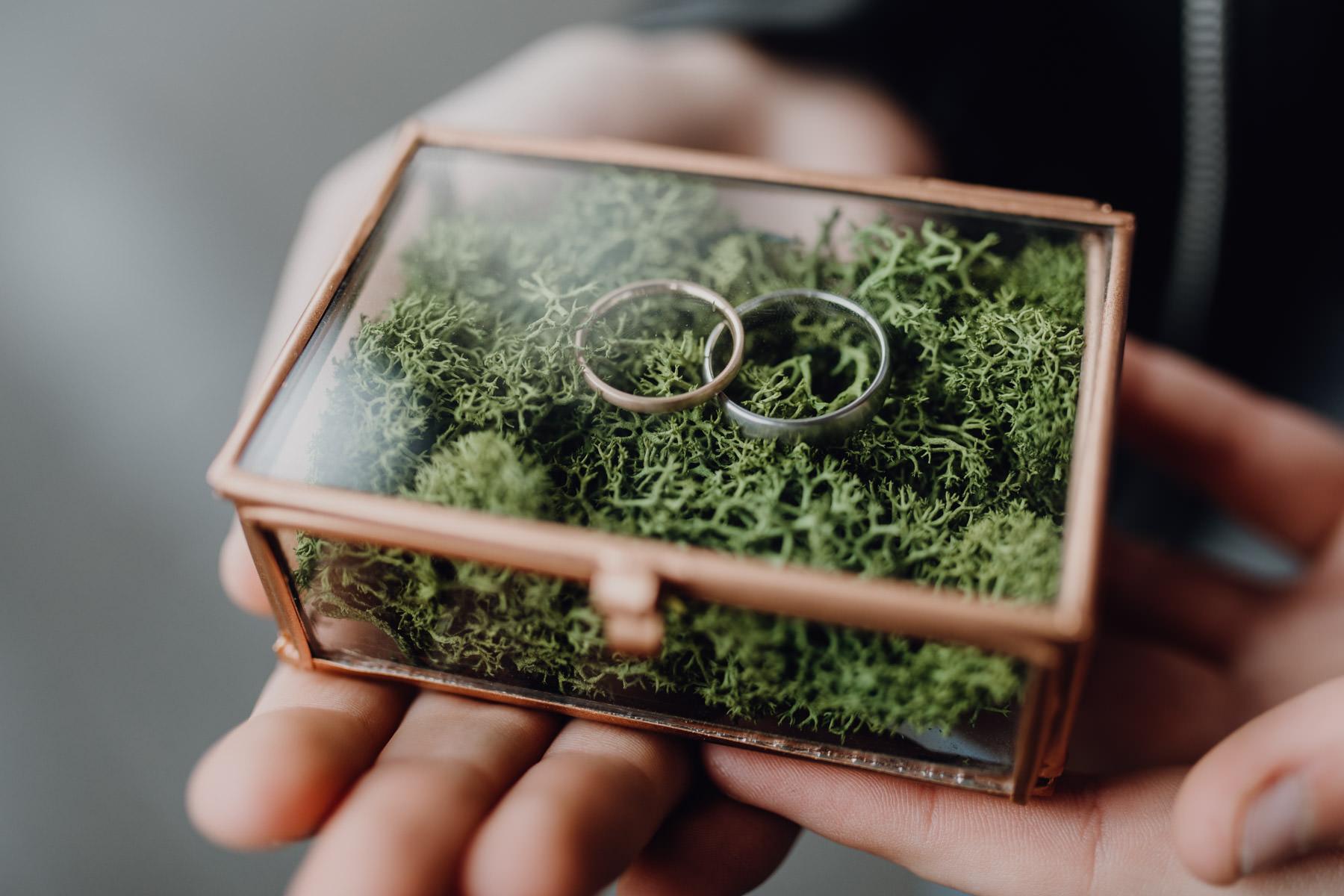 Professionelle Fotografie von Ringbox