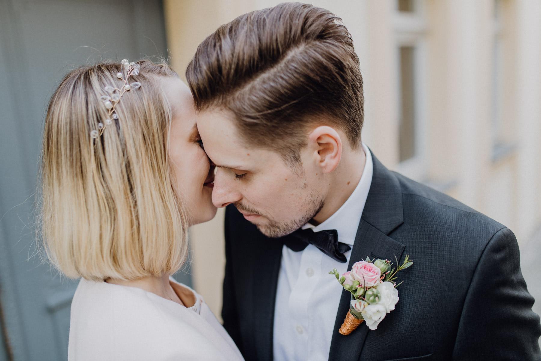Momentaufnahme eines Hochzeitspaares
