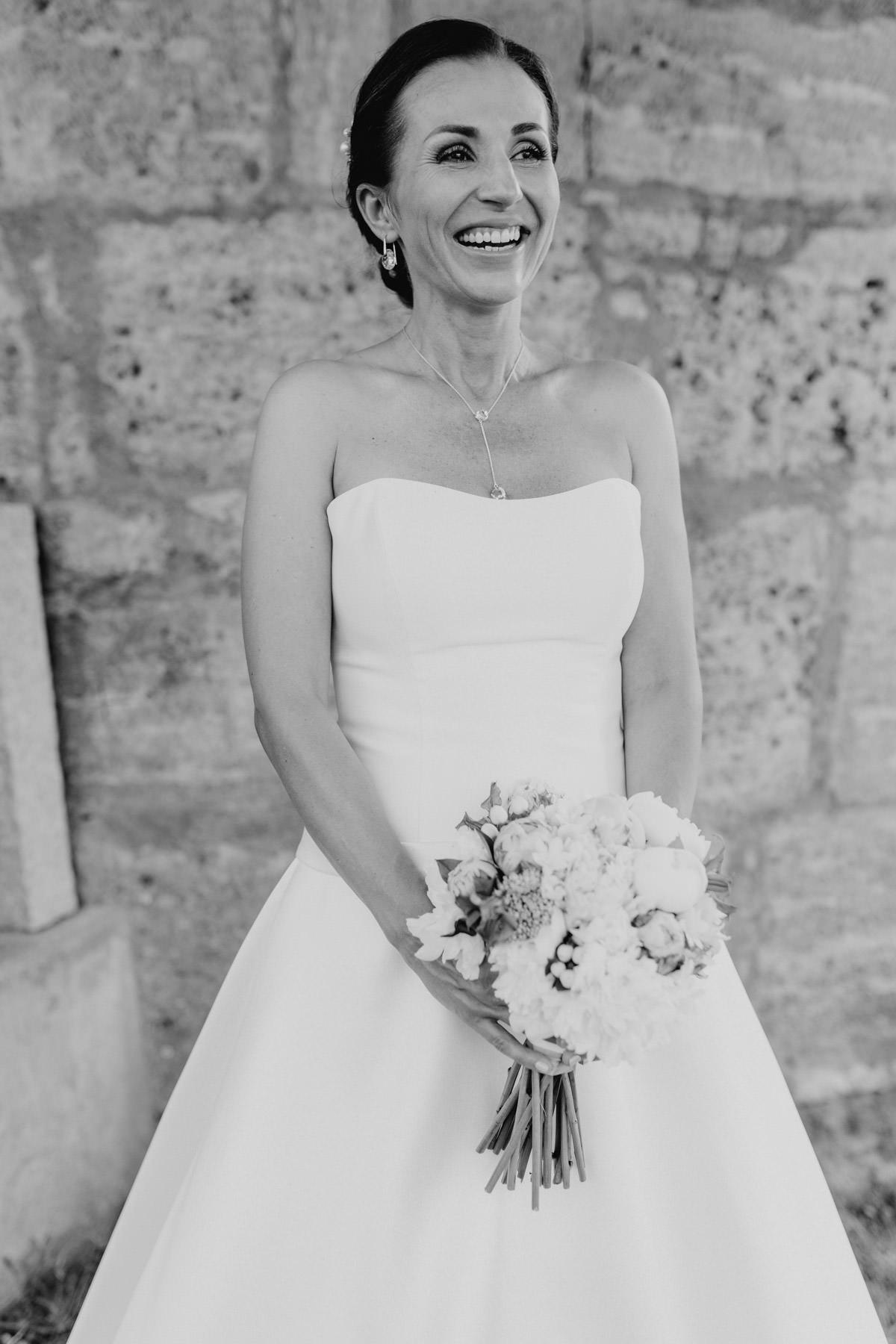 Natürliches Portrait einer Braut